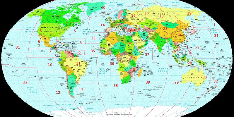 DXCC Países/Entidades «Más buscados»
